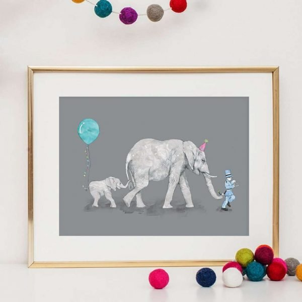 elephant parade art print