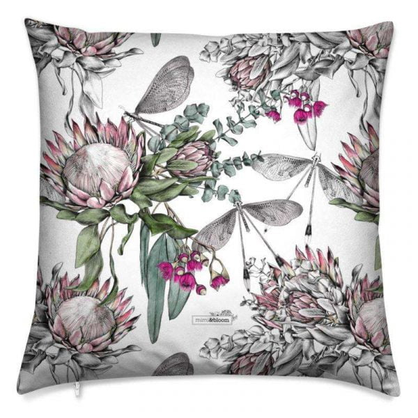 protea flower cushion