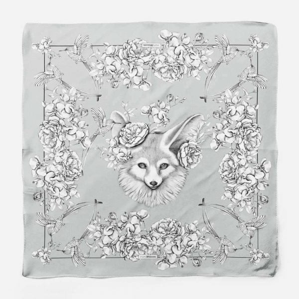 fox silk scarf