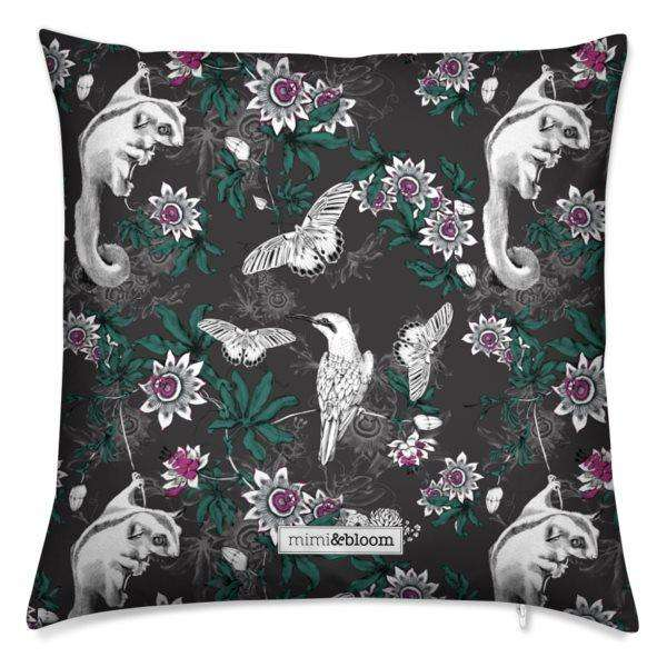 passionflower forest cushion