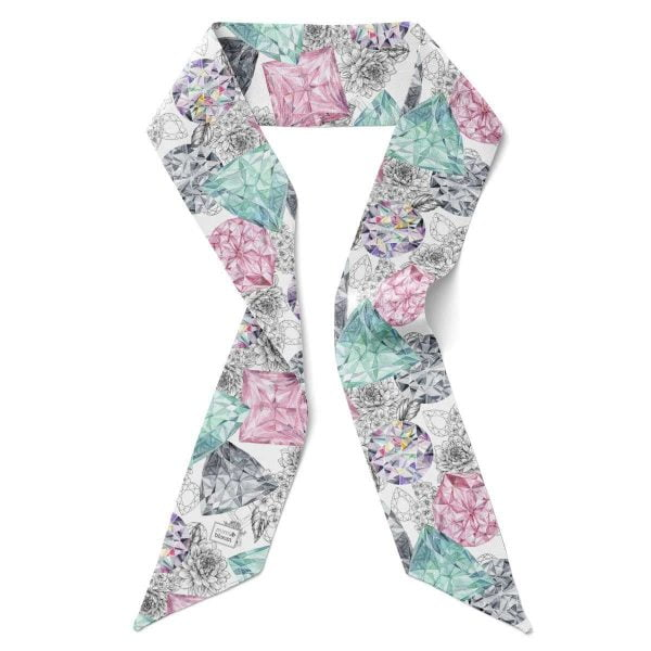 silk diamonds scarf