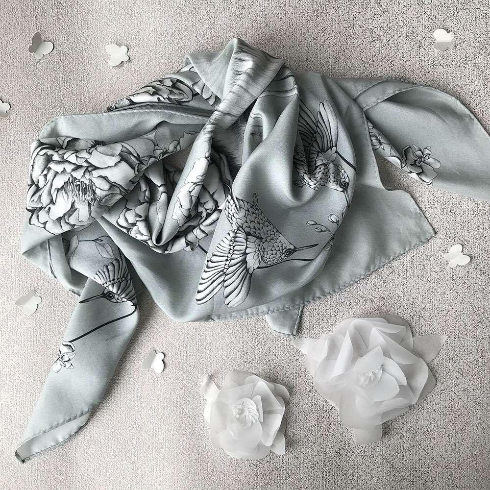 silk tencel scarf