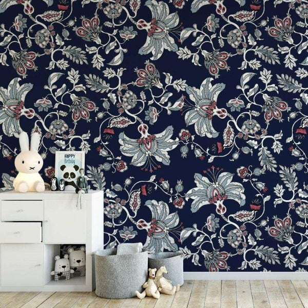 maximalist damask wallpaper
